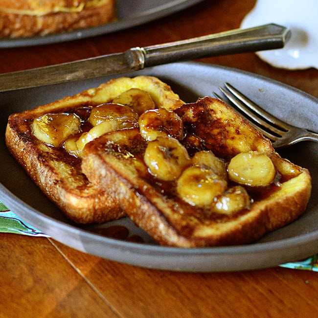 french toast fried in bacon drippings