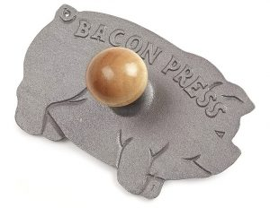 pig shaped bacon press cast iron