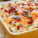 recipe for Creamy Potato Bacon Casserole