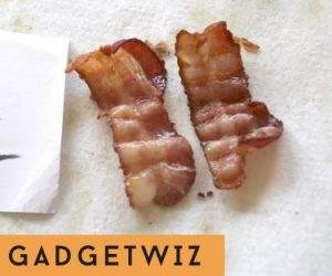 grilled bacon strips